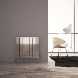Carisa Monza Double Polished Aluminium Radiator - 660 x 600mm - Installed