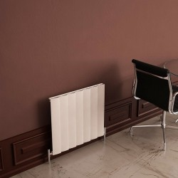 Carisa Step White Aluminium Radiator - 660 x 600mm - Installed