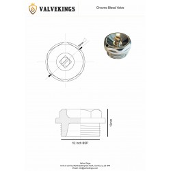 Chrome Bleed Valve Technical Drawing