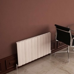 Carisa Step White Aluminium Radiator - 1040 x 600mm - Installed