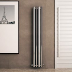 Carisa Mayra Chrome Radiator - 270 x 1800mm - Installed