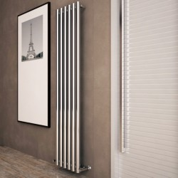Carisa Mayra Chrome Radiator - 420 x 1800mm - Installed