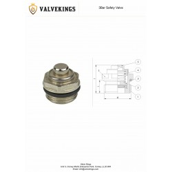 Chrome 3 Bar Safety Valve Technical Drawing