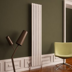 Carisa Tallis White Aluminium Radiator - 350 x 1800mm - Installed