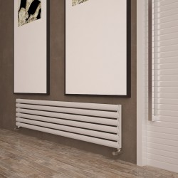 Carisa Tallis White Aluminium Radiator - 1800 x 350mm - Installed