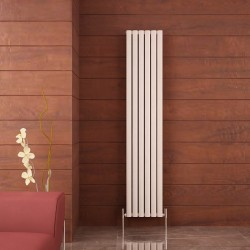 Carisa Tallis Double White Aluminium Radiator - 350 x 1800mm - Installed