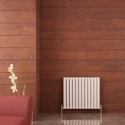 Carisa Tallis Double White Aluminium Radiator - 710 x 600mm - Installed