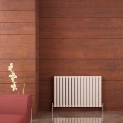 Carisa Tallis Double White Aluminium Radiator - 950 x 600mm - Installed