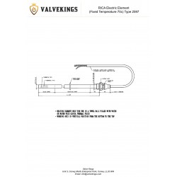 RICA Electric Element Type 2597 Technical Drawing