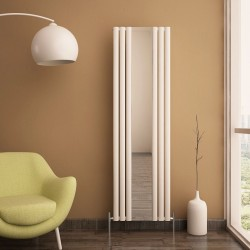 Carisa Tallis White Aluminium Radiator - 550 x 1800mm - Installed