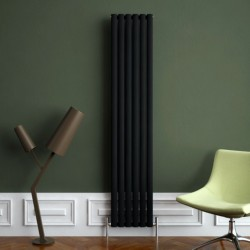 Carisa Tallis Black Aluminium Radiator - 350 x 1800mm - Installed