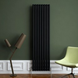 Carisa Tallis Black Aluminium Radiator - 470 x 1800mm - Installed