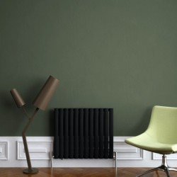 Carisa Tallis Black Aluminium Radiator - 710 x 600mm - Installed