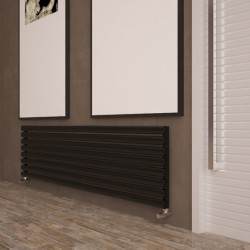 Carisa Tallis Black Aluminium Radiator - 1800 x 470mm - Installed