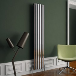 Carisa Tallis Polished Aluminium Radiator - 350 x 1800mm
