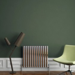 Carisa Tallis Polished Aluminium Radiator - 710 x 600mm - Installed