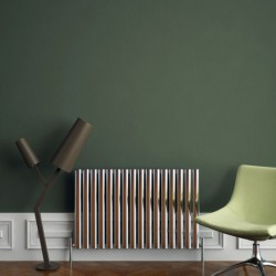 Carisa Tallis Polished Aluminium Radiator - 950 x 600mm - Installed