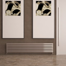 Carisa Tallis Polished Aluminium Radiator - 1800 x 350mm - Installed