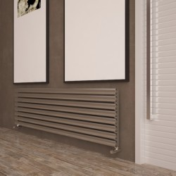 Carisa Tallis Polished Aluminium Radiator - 1800 x 470mm - Installed