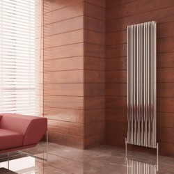 Carisa Tallis Double Polished Aluminium Radiator - 470 x 1800mm