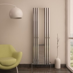 Carisa Tallis Polished Aluminium Mirror Radiator - 550 x 1800mm