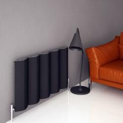 Carisa Nixie Black Aluminium Radiator - 1045 x 1800mm