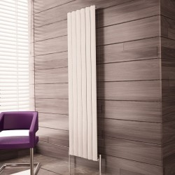 Carisa Elliptic White Aluminium Radiator - 475 x 1800mm
