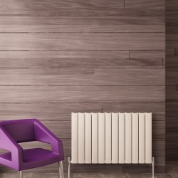 Carisa Elliptic White Aluminium Radiator - 955 x 600mm