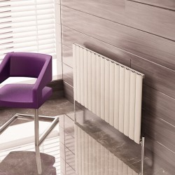 Carisa Elliptic White Aluminium Radiator - 1195 x 600mm
