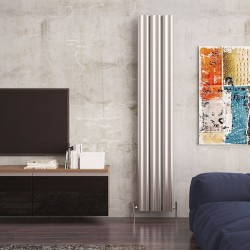Carisa Wave Polished Aluminium Radiator - 370 x 1800mm