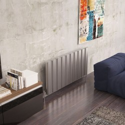 Carisa Wave Polished Aluminium Radiator - 1245 x 600mm
