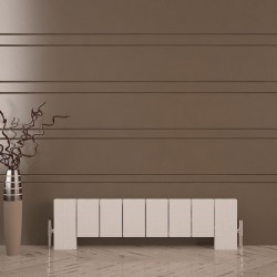 Carisa Elvino Floor White Aluminium Radiator - 995 x 300mm