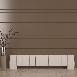 Carisa Elvino Floor White Aluminium Radiator - 1245 x 300mm