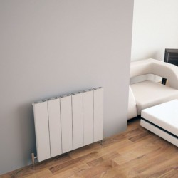 Carisa Elvino White Aluminium Radiator - 745 x 600mm