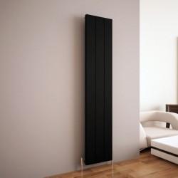 Carisa Elvino Black Aluminium Radiator - 370 x 1800mm