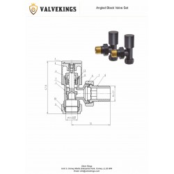 Angled Black Valves - Technical Drawing