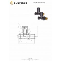 Straight Black Valves (Pair) - Technical Drawing