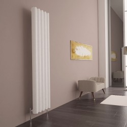 Carisa Otto White Aluminium Radiator - 395 x 1800mm