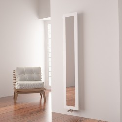 Carisa Quadro White Aluminium Mirror Radiator - 280 x 1800mm