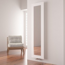 Carisa Quadro White Aluminium Mirror Radiator - 470 x 1800mm