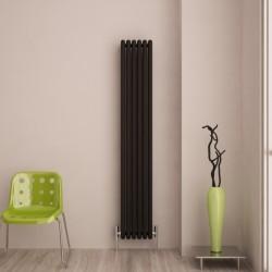 Carisa Tubo Black Aluminium Column Radiator - 290 x 1800mm