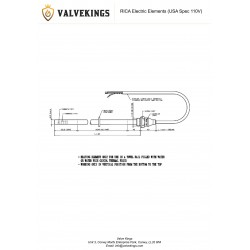 RICA Electric 110v Element Technical Drawing