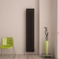 Carisa Tubo Black Aluminium Column Radiator - 340 x 1800mm