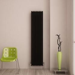 Carisa Tubo Black Aluminium Column Radiator - 390 x 1800mm