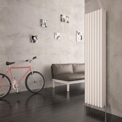 Carisa Karo White Aluminium Column Radiator - 340 x 1800mm