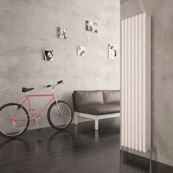 Carisa Karo White Aluminium Column Radiator - 390 x 1800mm