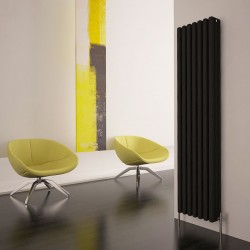 Carisa Karo Black Aluminium Column Radiator - 340 x 1800mm