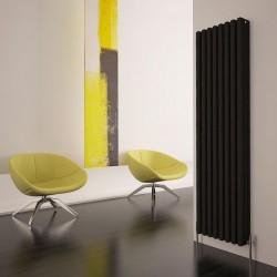 Carisa Karo Black Aluminium Column Radiator - 390 x 1800mm