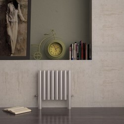Carisa Fortuna Brushed Stainless Steel Radiator - 515 x 600mm