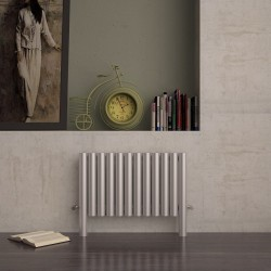 Carisa Fortuna Brushed Stainless Steel Radiator - 775 x 600mm